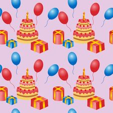 Free Birthday Is A Seamless Pattern. Royalty Free Stock Images - 28842649