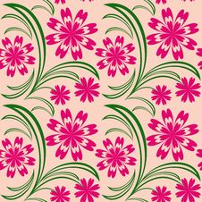 Free Floral Seamless Pattern. Royalty Free Stock Photography - 28842667