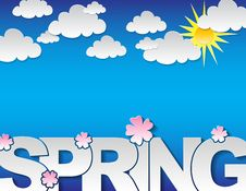 Free Spring Concept Background Royalty Free Stock Photography - 28847927