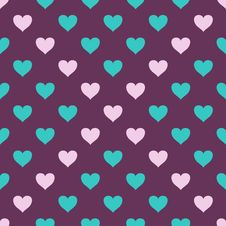 Free Vector Seamless Pattern With Hearts Royalty Free Stock Photography - 28848977