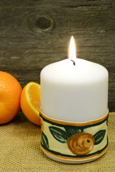 Free Candle And Clementines... Royalty Free Stock Image - 28849316
