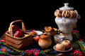 Free Samovar, Bagels And Apples On Table Stock Photo - 28850930