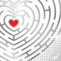 Free Maze Whits Heart Royalty Free Stock Photo - 28853565