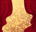 Free Red Curtains And Golden Background Royalty Free Stock Photos - 28855428