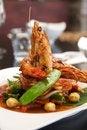 Free Thai Stir Fried With King Prawn. Royalty Free Stock Photo - 28859625