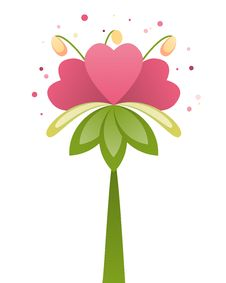 Pink Heart Flower Royalty Free Stock Photography