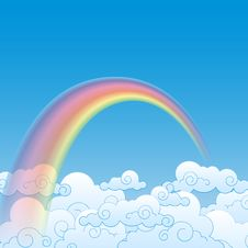 Free Colorful Rainbow With Cloud, Illustration Royalty Free Stock Photo - 28855725