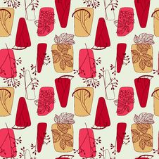 Free Floral Retro Seamless Pattern Background Stock Image - 28856021