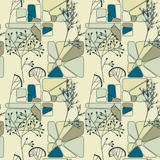 Free Elegant Floral Retro Seamless Pattern Royalty Free Stock Images - 28856139