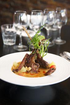 Free Thai Food, Lamb Massaman Curry. Stock Images - 28859644