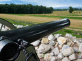 Free Cannon Overlooking Battlefield Stock Images - 28864254