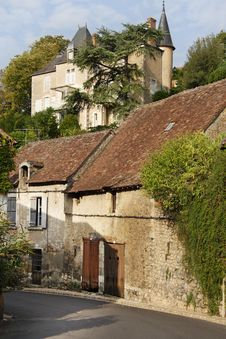 Free Medieval French Village Street Stock Image - 28860511