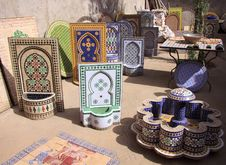 Products From Moroccan Mosaics Royalty Free Stock Photos