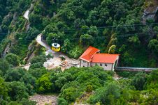 Free Cable Car To Monserrat Monastery Royalty Free Stock Photo - 28863885