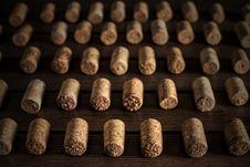 Free Set Of Wine Plugs Correctly Lying Stock Photography - 28864092