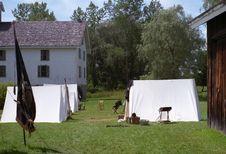 Free Civil War Reenactment Camp Stock Photography - 28864252