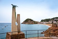 Castle View In Tossa De Mar, Spain. Royalty Free Stock Images