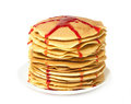Free Stack Of Pancakes With Jam Stock Photo - 28877400