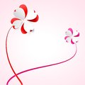 Free Vector Background With Flowers. Scarlet Heart Royalty Free Stock Images - 28878719