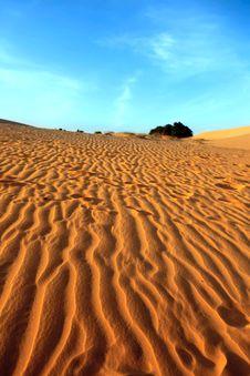 Free Red Sand Dunes. Sunset Stock Image - 28870711