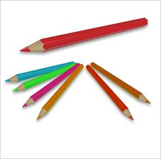 Free Pencils Royalty Free Stock Photo - 28871445