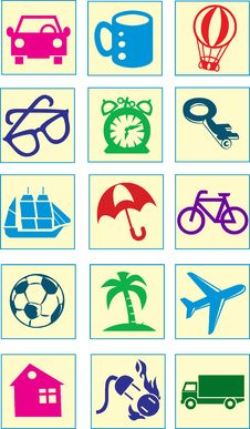 Free Cartoon Icons Stock Photography - 28876742