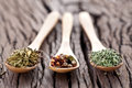 Free Variety Of Spices In The Spoons. Stock Images - 28881634