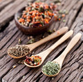 Free Variety Of Spices In The Spoons. Stock Image - 28881671