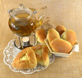 Free Teapot With Buns And Candle Stock Images - 28886074