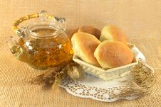 Free Teapot With Buns Stock Photo - 28886030