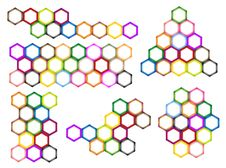 Free Different Styles And Colors Of Hexagon Label Stock Image - 28886311