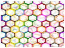Free Multi Colors Of Hexagon On Abstract Background Royalty Free Stock Photography - 28886317