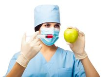 Free Chemical Experiment With Apple And Syringe Royalty Free Stock Photos - 28888228