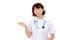 Free Asian Female Nurse Showing Blank Sign Royalty Free Stock Image - 28886106