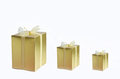 Free Three Golden Gift Box On White Background Stock Image - 28891971