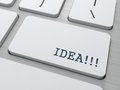 Free Idea - Button On Keyboard. Royalty Free Stock Photography - 28896017