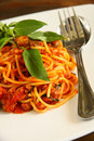 Free Spaghetti With Thai Style Sauce Stock Photography - 28897772