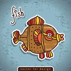 Free Vector Decorative Doodle Fish Stock Images - 28892504