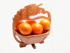 Free Basket Of Oranges. Isolated Stock Photo - 28892680