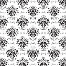 Free Floral Black & White Background Royalty Free Stock Image - 28894576