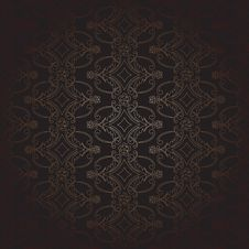 Free Vintage Black & Copper Pattern Stock Photography - 28894712