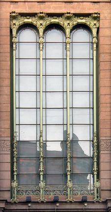 Window Art Nouveau Royalty Free Stock Photo