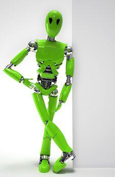 Free Robot Green Stock Image - 28898401
