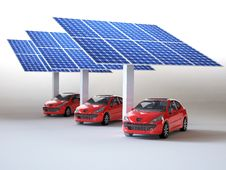 Free Solar Panel For Cars Stock Photo - 28899150