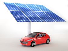 Free Solar Panel For Cars Royalty Free Stock Photos - 28899218