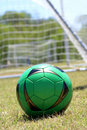 Free Soccer Ball In Green Royalty Free Stock Photos - 2896978