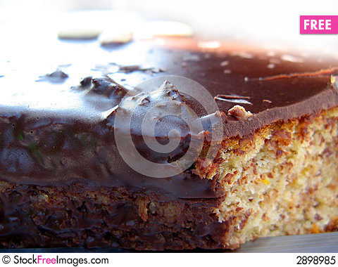 Free Chocolate Carrot Cake Royalty Free Stock Photo - 2898985
