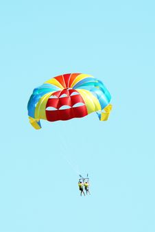 People Paragliding Stock Image