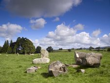 Free Felled Tree In Stone Circle Stock Image - 2891281