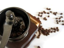 Free Coffee Grinder And Beans Stock Photos - 2891483